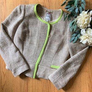 Yoana Baraschi Cream Tweed Blazer Size 8